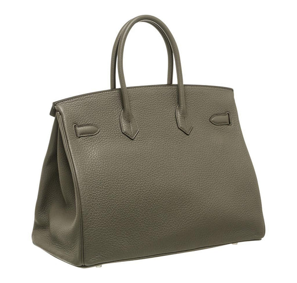 Hermes Birkin 35 Etain Gray New back