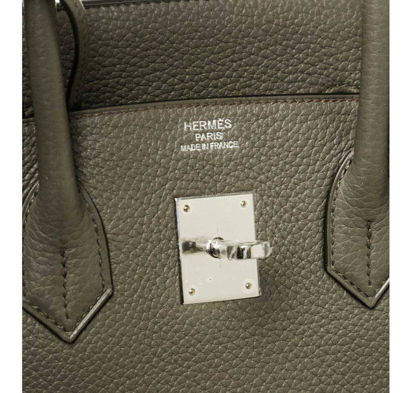 Hermes Birkin 35 Etain Gray New embossing