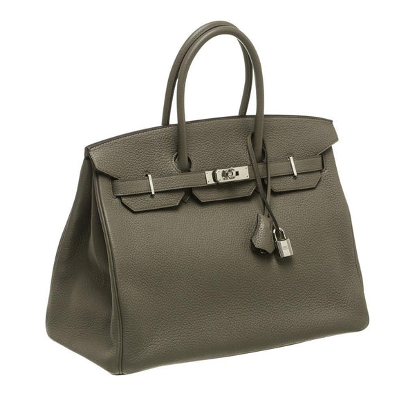 Hermes Birkin 35 Etain Gray New side