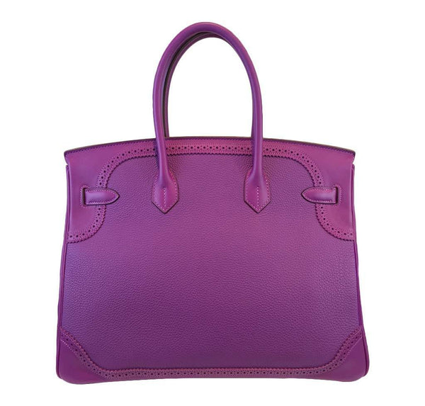 hermes birkin 35 ghillies anemone new back