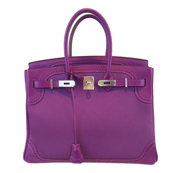 hermes birkin 35 ghillies anemone new open
