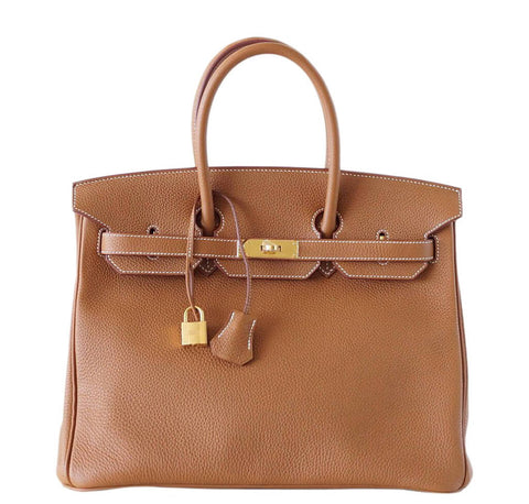 Hermes Birkin 35 Gold Bag Togo