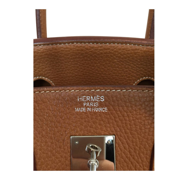 Hermes Birkin 35 Gold Used Embossing