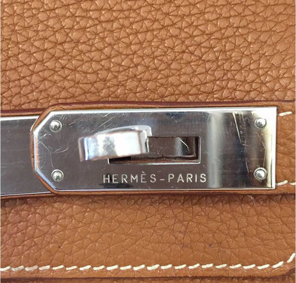 Hermes Birkin 35 Gold Used Engraving