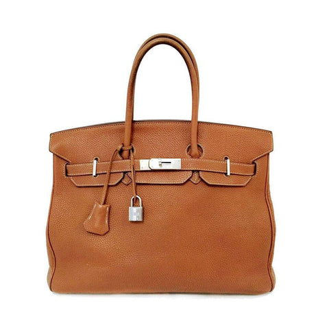 Hermes Birkin 35 Gold Bag