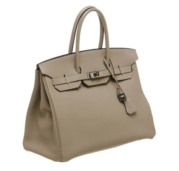 Hermes Birkin 35 Gris Tourterelle Used Side