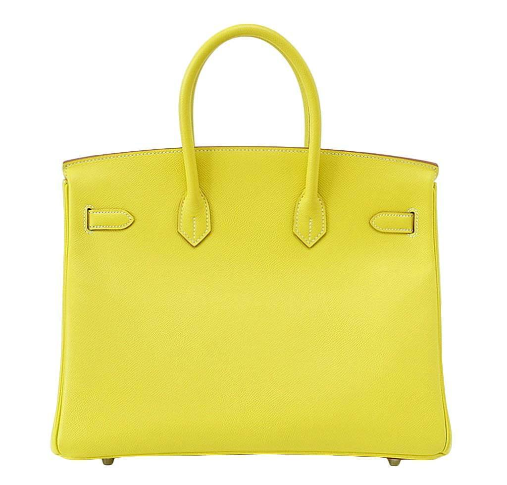 6cc32c09f409 ... hermes birkin 35 lime candy series limited edition new back ...