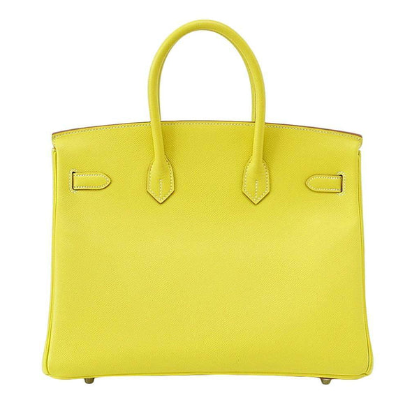 hermes birkin 35 lime candy series limited edition new back