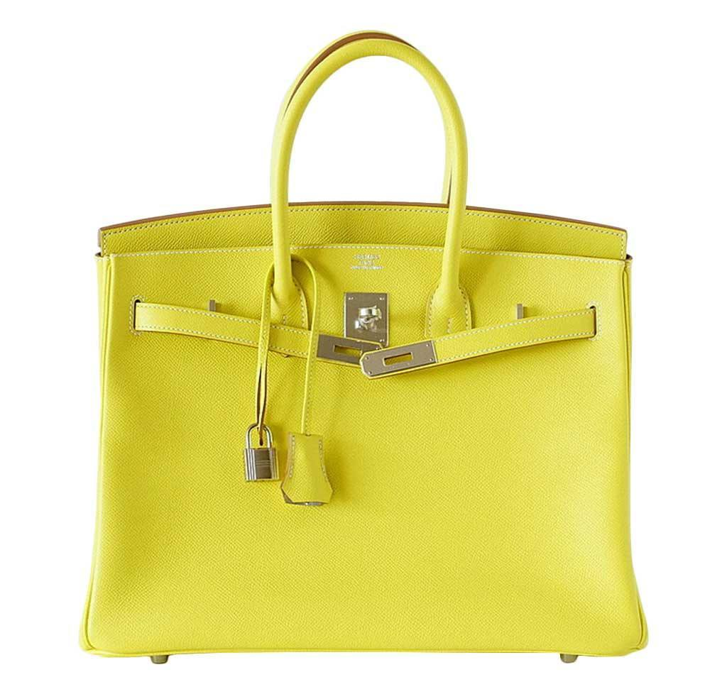Hermes Birkin 35 Lime Candy Bag hermes birkin 35 lime candy series limited  edition new front open ... 30bf1727a8b5c