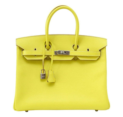 Hermes Birkin 35 Lime Candy Bag