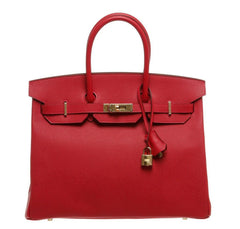 Hermes Birkin 35 Rouge Casaque Bag