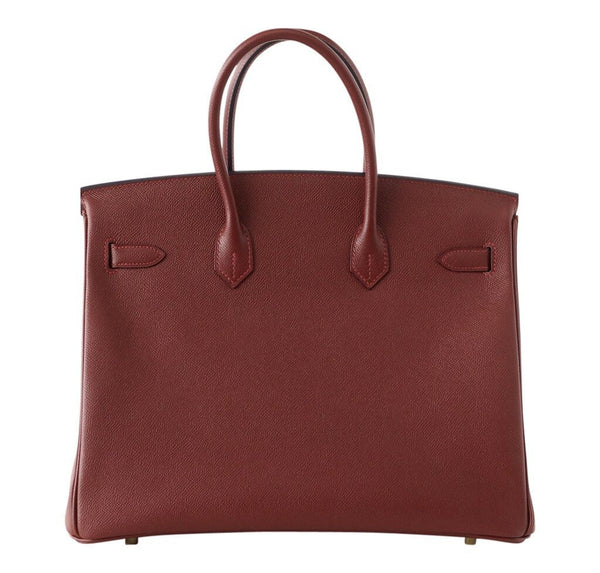 hermes contour birkin 35 rouge h limited edition new back