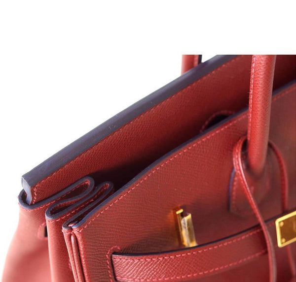 hermes contour birkin 35 rouge h limited edition new detail