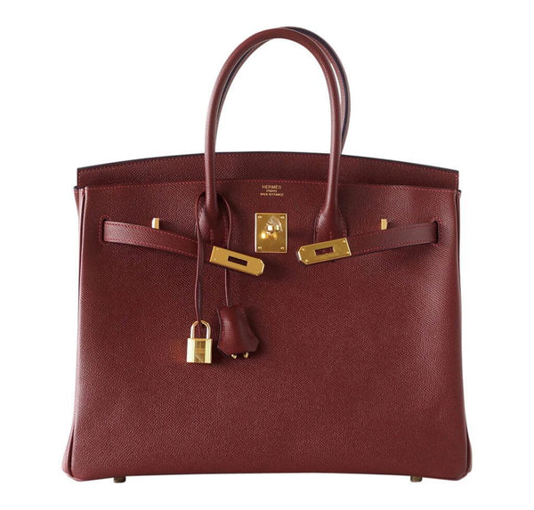 hermes contour birkin 35 rouge h limited edition new front open