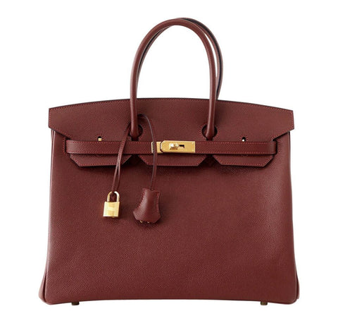 Hermes Contour Birkin 35 Red Bag