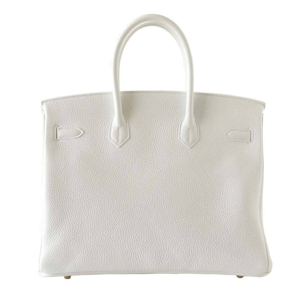 hermes birkin 35 snow white new back