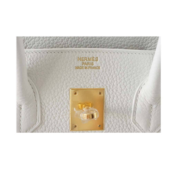 hermes birkin 35 snow white new embossing