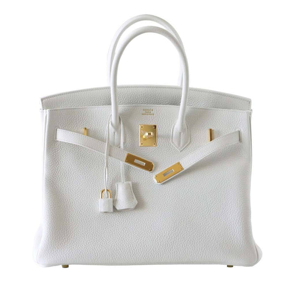 hermes birkin 35 snow white new front open