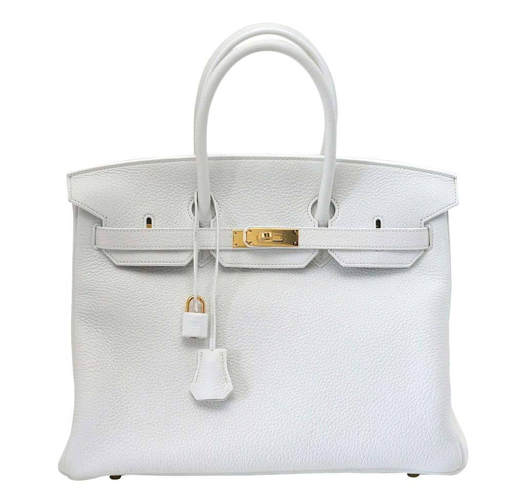1c3d4fa9327e Hermes Birkin 35 Snow White Bag hermes birkin 35 snow white new front ...