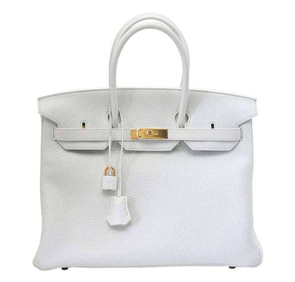 Hermes Birkin 35 Snow White Bag