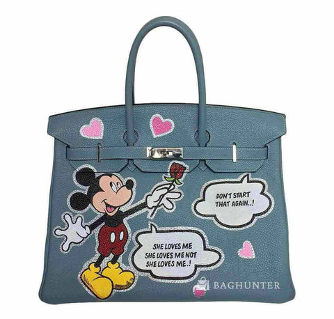 Hermes Birkin 35 Mickey Mouse Bag