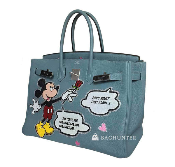 hermes birkin 35 special mickey mouse used open