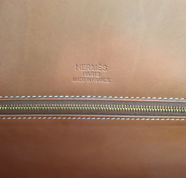 Hermes Birkin 35 Flag Bag Tan Orange Toile Limited Edition