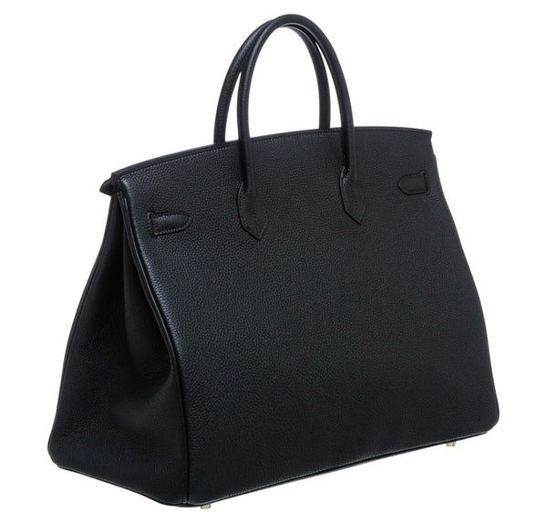 Hermes Birkin 40 Noir Black New Back