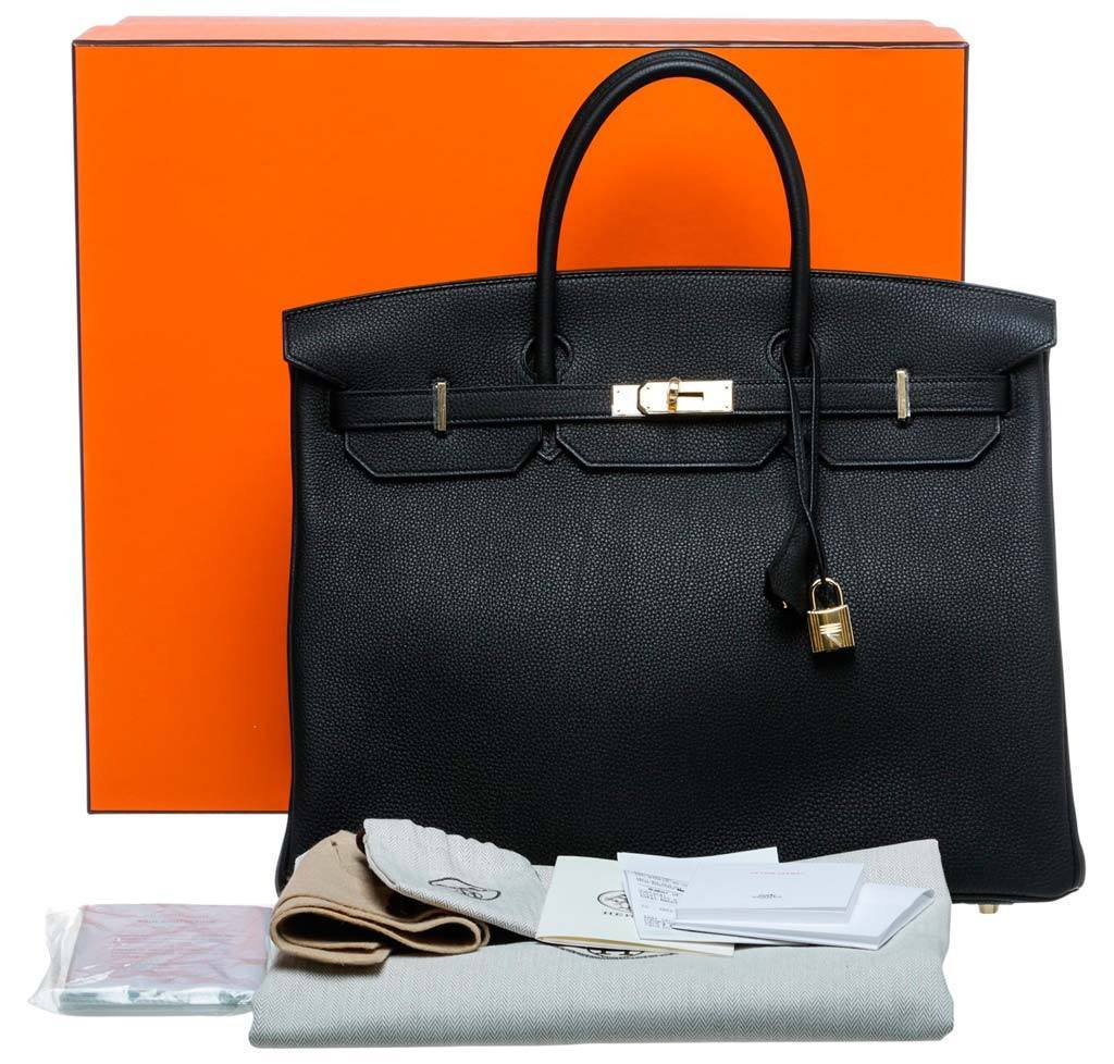 0295d7e5a12 Hermès Birkin 40 Noir Black - Togo Leather GHW