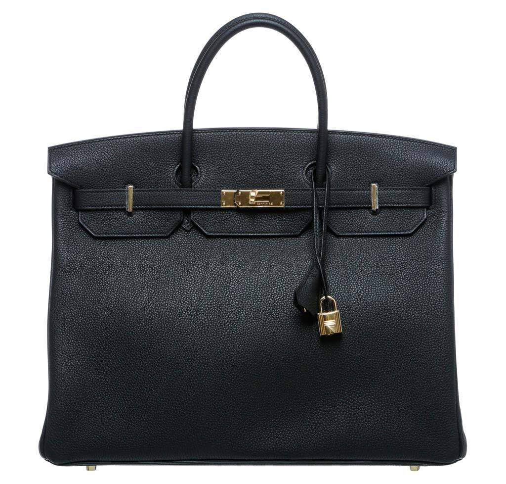 4cd4c2f32103 Hermès Birkin 40 Noir Black - Togo Leather GHW | Baghunter