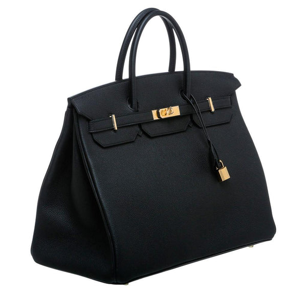 Hermes Birkin 40 Noir Black New Side