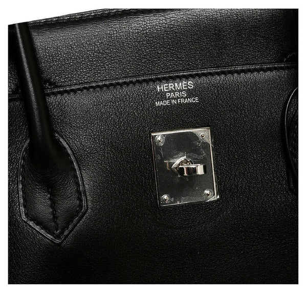 Hermes Birkin 40 Black Used Embossing