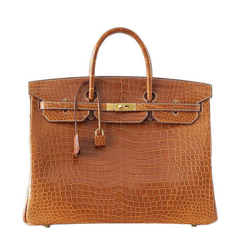 Hermes Birkin 40 Bag Fauve Crocodile