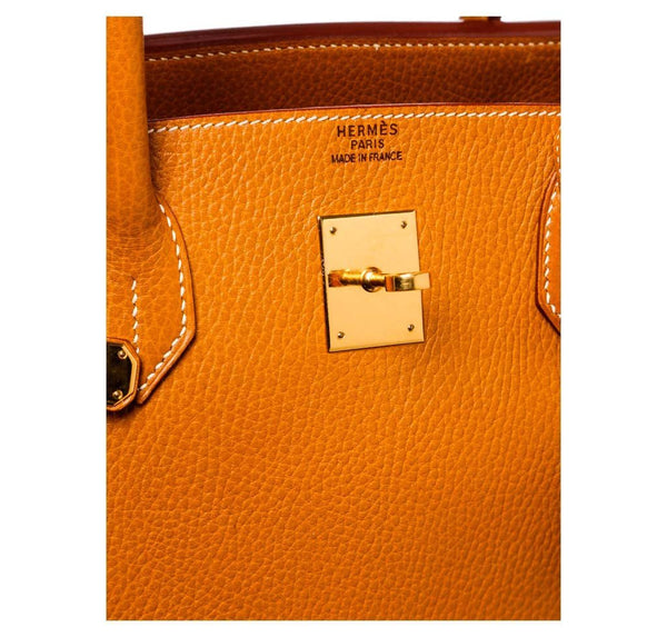 hermes birkin 40 gold used embossing