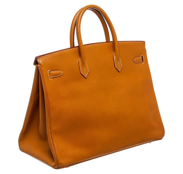 hermes birkin 40 gold used back