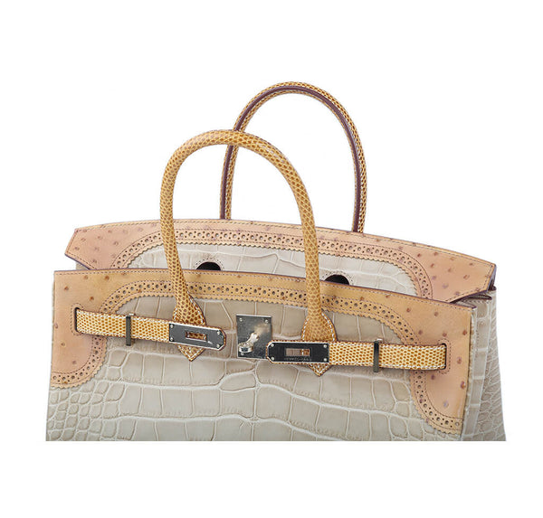 Hermes Birkin Ghillies 35 Alligator Bag