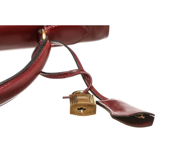 Hermes Kelly 32 Bag Burgundy Gold Hardware
