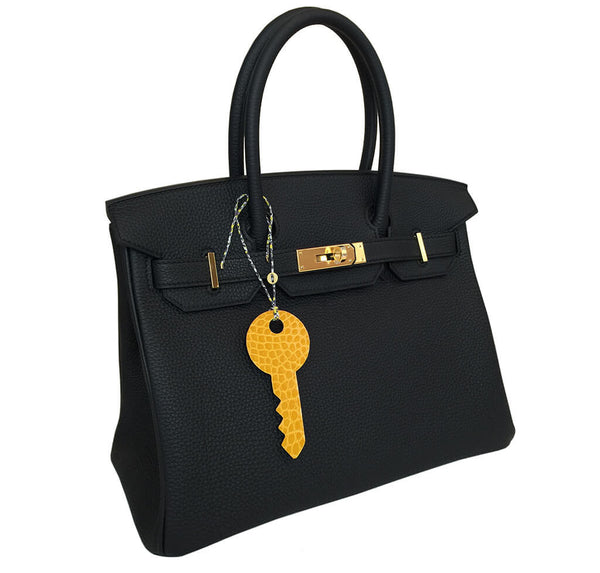 Hermes Limited Edition Key Charm Yellow