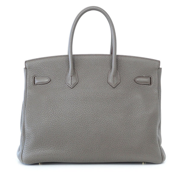 Hermes Club Birkin Limited Edition Etain Graphite Used Back