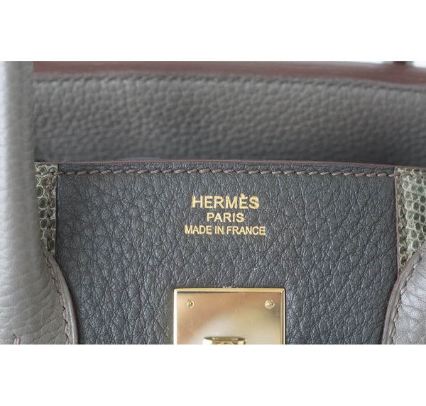 Hermes Club Birkin Limited Edition Etain Graphite Used Embossing