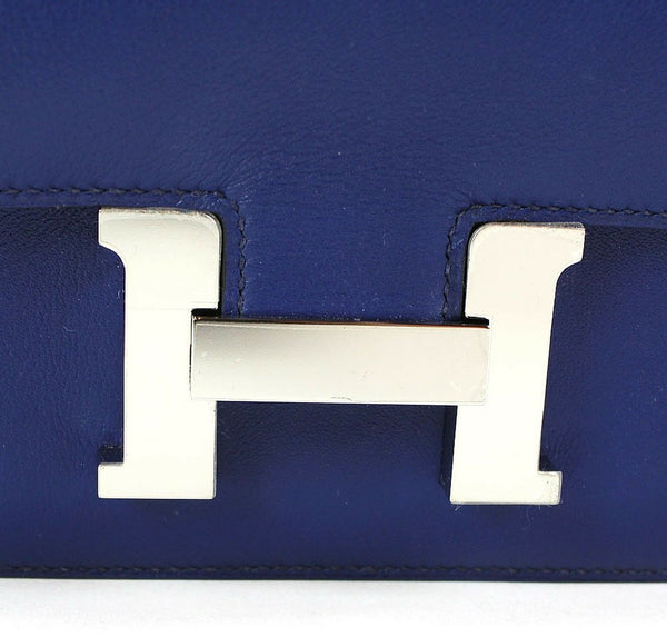 Hermes Constance 18 Blue Izmir Used Closure