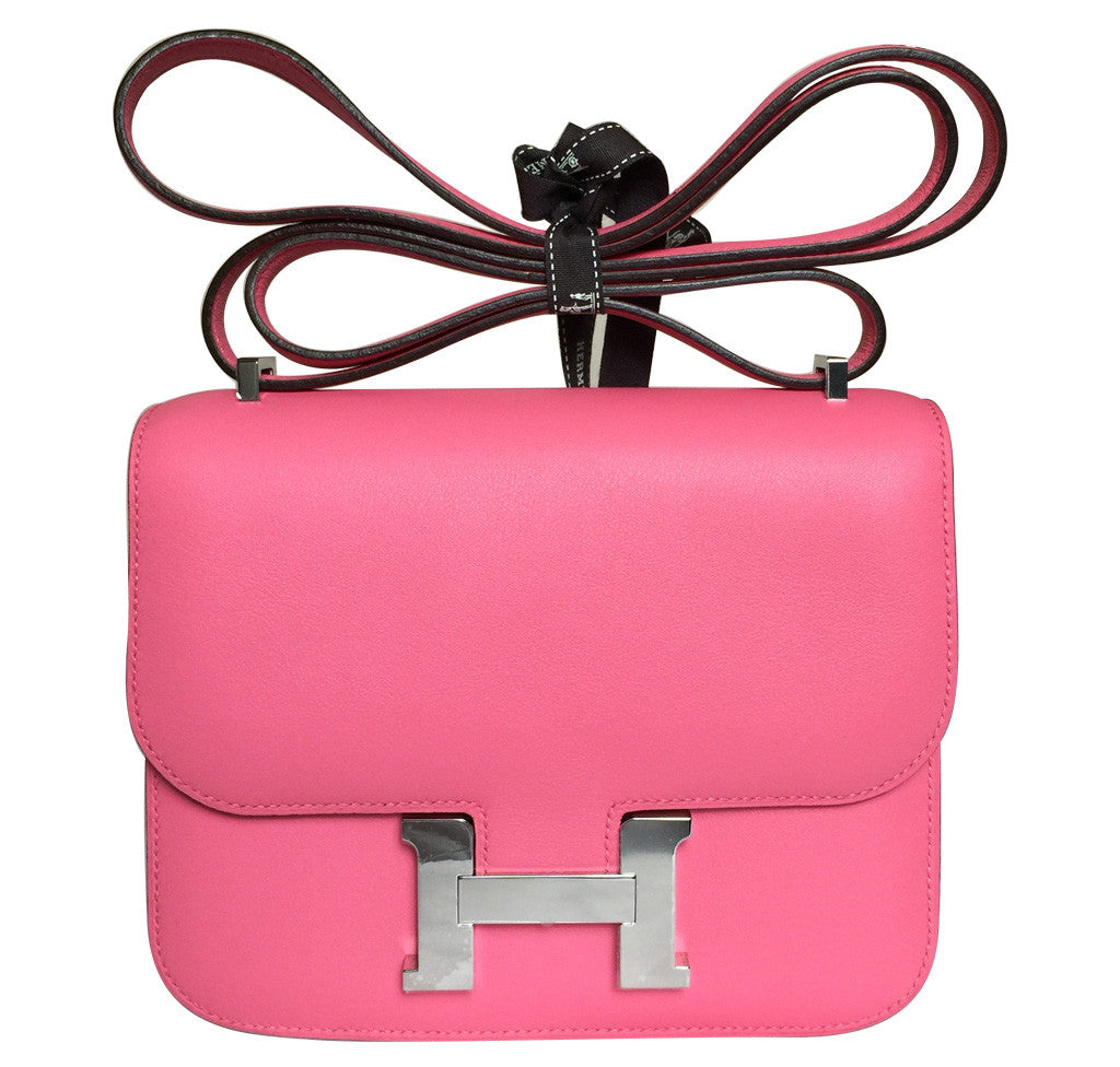 178d883c57ef Hermes Constance Mini 18 Bag Rose Azalea Leather – Palladium ...