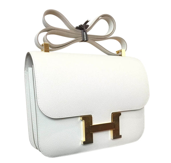 Hermes Constance 24 Craie Epsom Leather