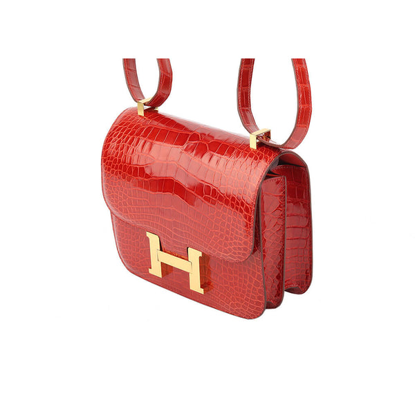 Hermes Constance 24 Bag Sanguine Crocodile