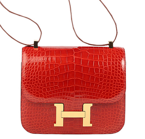 Hermes Constance 24 Bag Sanguine Alligator