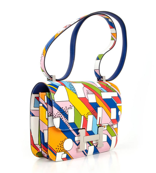 Hermes Constance 24 Limited Edition Multi-Color swift Bag pristine front right
