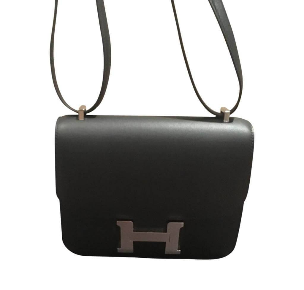 68f45f22444d Hermès Constance Mini 18 Noir - Swift PHW