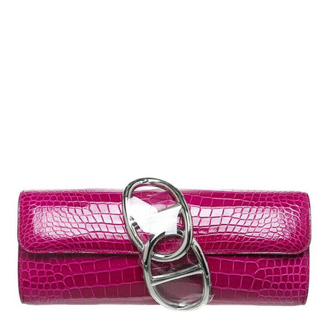 Hermes Egee Clutch Rose Scheherazade Bag