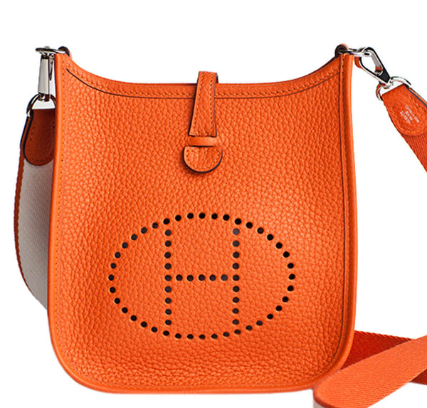Hermes Evelyne Mini Sac En Daim Marron original xsZfFIR