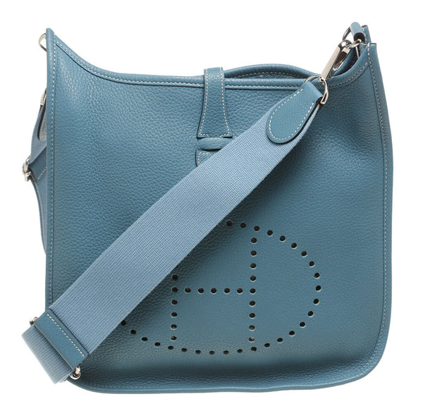 Hermes Evelyne PM Bag Blue Clemence